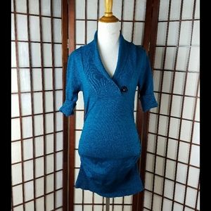 PLANET GOLD Ruched Sides Bodycon Sweater